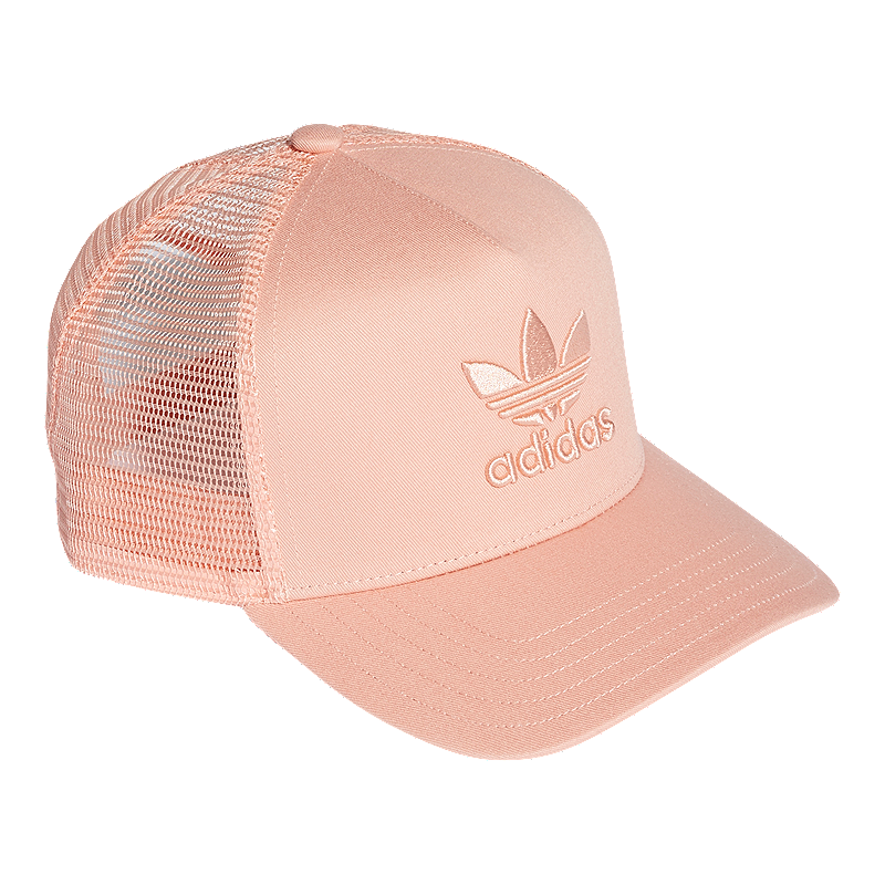 8d08c90a2 adidas Originals Women's Trucker Trefoil Hat - Pink
