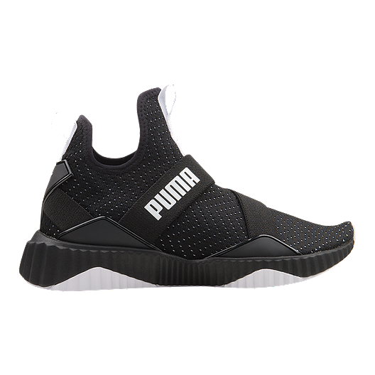 1533ce2e374 PUMA Women's Defy Mid Shoes - Black/White   Sport Chek
