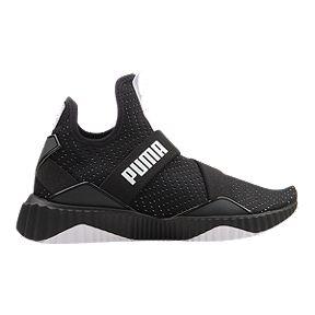 21919b5afe83b5 PUMA Women s Defy Mid Shoes - Black White