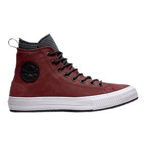 258ac4f396d2a2 Converse Men s Chuck Taylor Waterproof Hi Boots - Burgundy Black