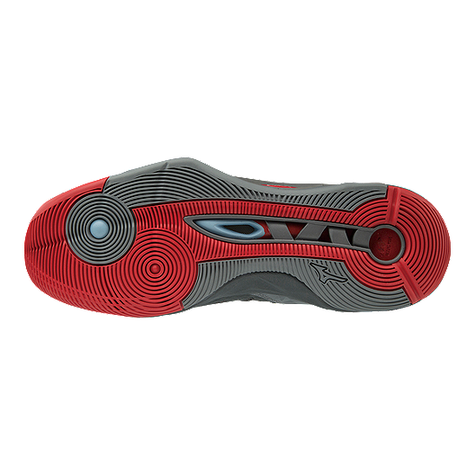cfe7165fd283 Mizuno Men's Wave Momentum Indoor Court Shoes - Red/Grey. (0). View  Description