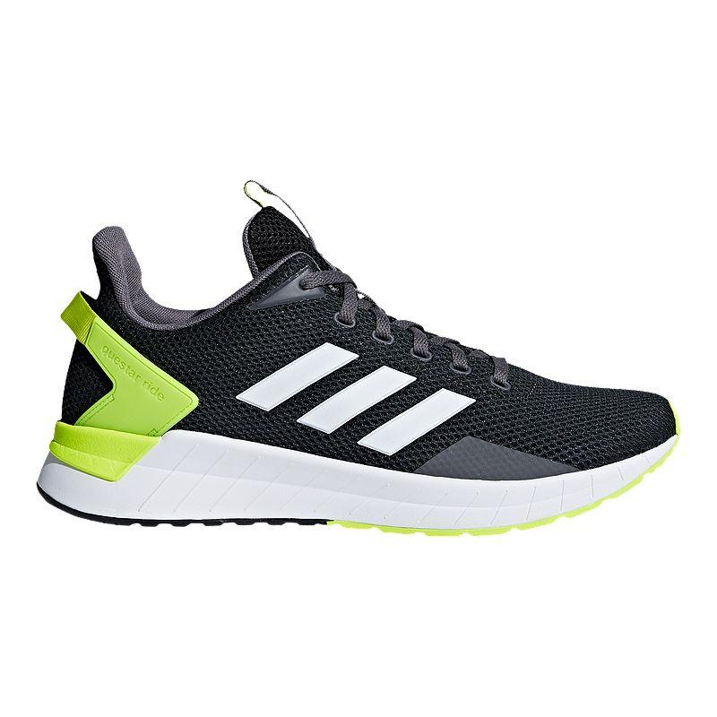 3f12fc68d32 adidas Men s Questar Ride Running Shoes - Black White Yellow (191028612723)  photo