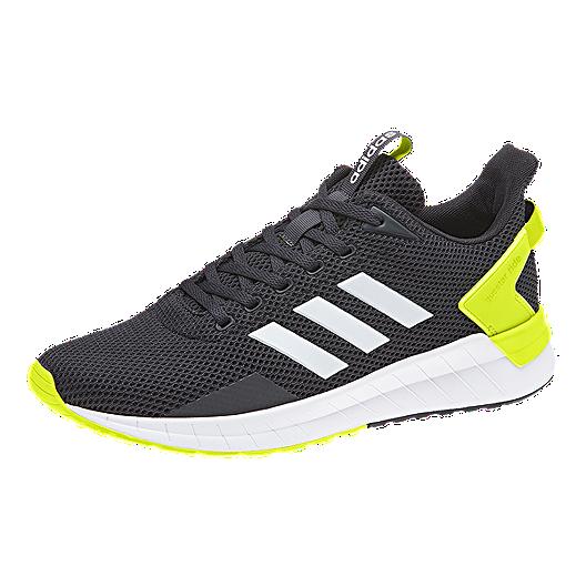 super popular f9b1f ee8db adidas Men's Questar Ride Running Shoes - Black/White/Yellow