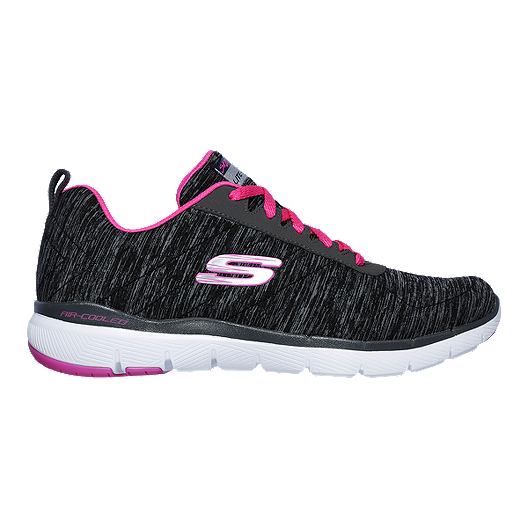 brand new 97021 9b2e1 Skechers Women s Flex Appeal 3.0 Insiders Walking Shoes - Black Pink    Sport Chek