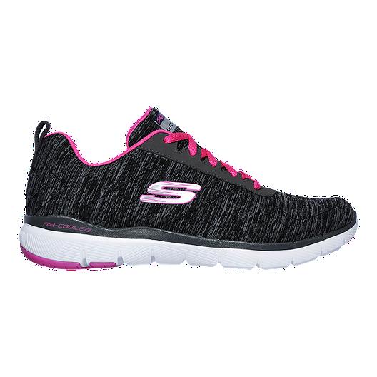 512305f3baa Skechers Women s Flex Appeal 3.0 Insiders Walking Shoes - Black Pink ...
