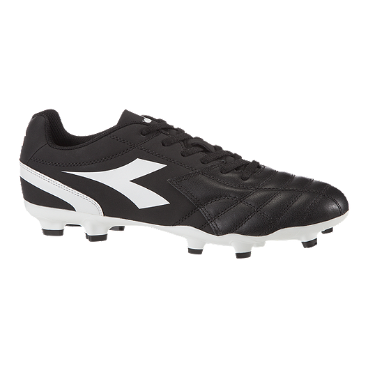 b19d9afda025 Diadora Men's Reign Firm Ground Shoes - Black/White   Sport Chek