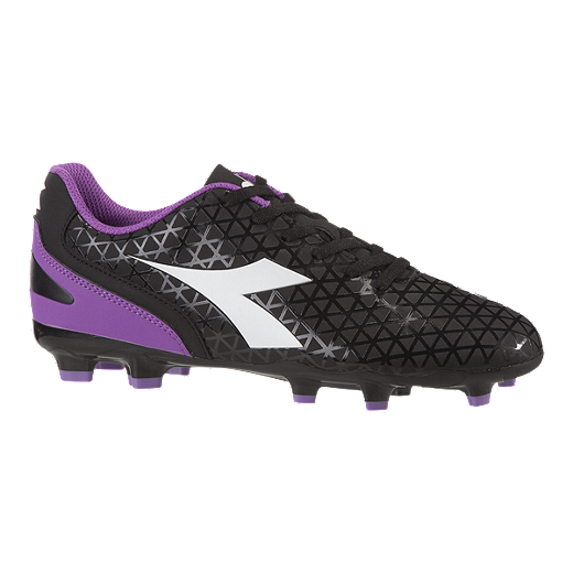 fce23ec56a7 Diadora Women s Blaze Firm Ground Shoes - Black Purple - BLACK PURPLE