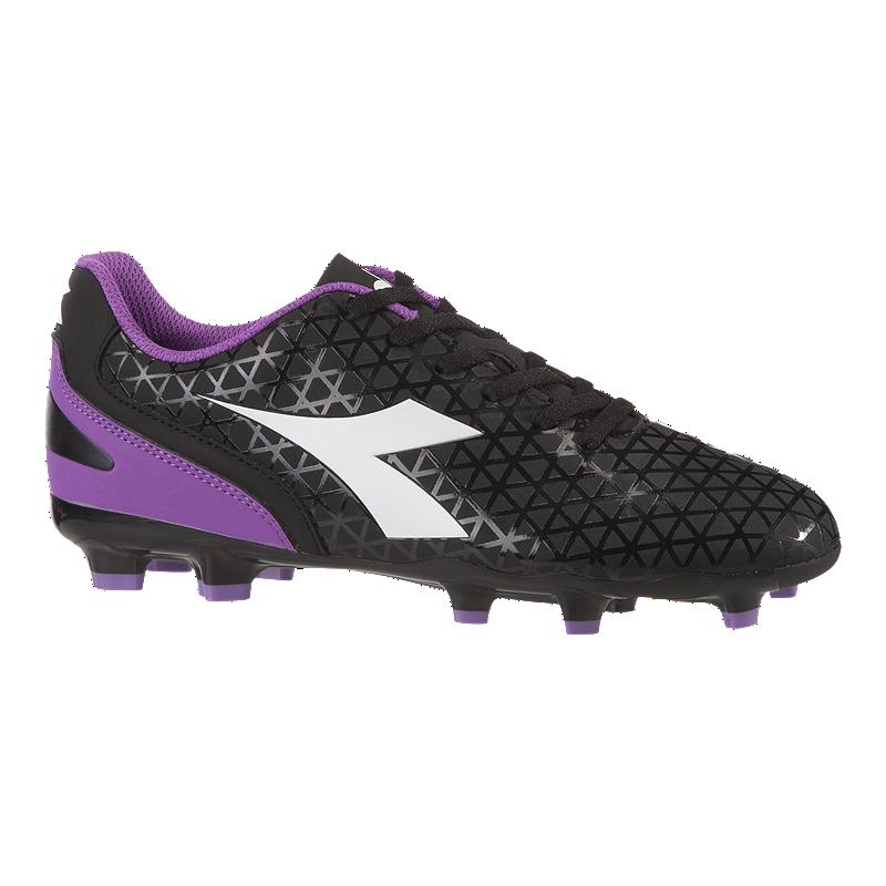 09977769f4d Diadora Women s Blaze Firm Ground Shoes - Black Purple