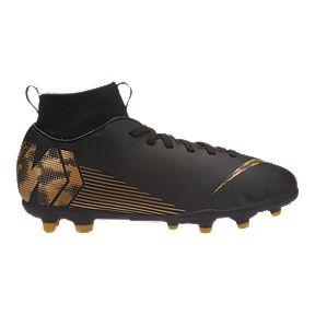 ea3278af9595 Nike Boys' Grade School Mercurial Superfly 6 Firm Ground Shoes - Black/Gold