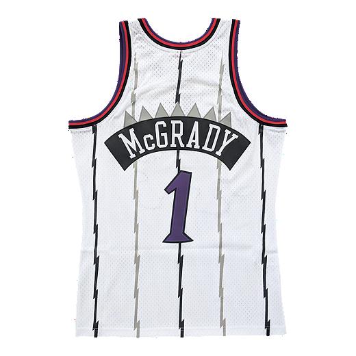 aa3135e4fb5 Toronto Raptors Mitchell and Ness Men's McGrady Replica Home Jersey - WHITE