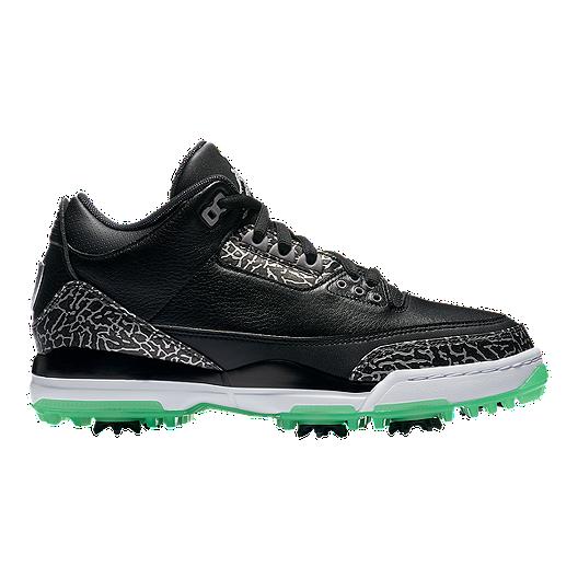 2715b1be998 Nike Golf Men s Air Jordan 3 Golf Shoes - Black Green Glow