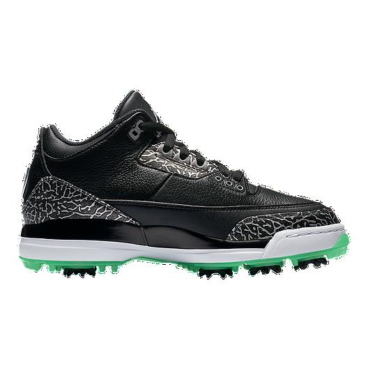 c8cae6d29f71 Nike Golf Men s Air Jordan 3 Golf Shoes - Black Green Glow. (0). View  Description