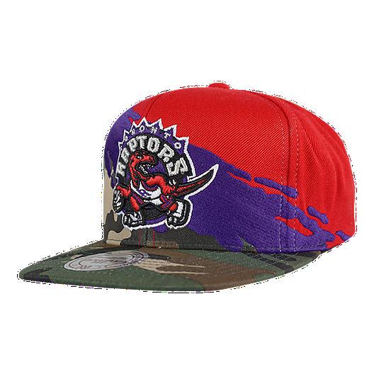 2bf2147642f8ac Toronto Raptors Mitchell and Ness Camo Paintbrush Snapback Cap   Sport Chek
