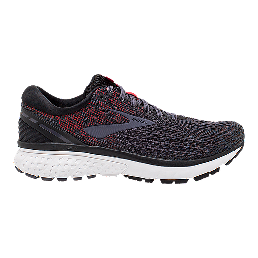 061044dabd7aa Brooks Men s Ghost 11 Running Shoes - Black Grey Red