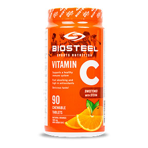 Biosteel Vitamin C - Natural Orange - 90 Chewable Tablets - 500mg