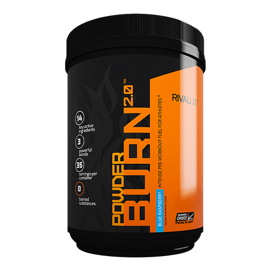 Rivalus Powder Burn 2.0 Pre-Workout Blue Raspberry | Sport Chek