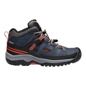 db2769ba45be Keen Kids  Targhee Mid Cut Waterproof Hiking Shoes - Blue Nights Rooibos Tea