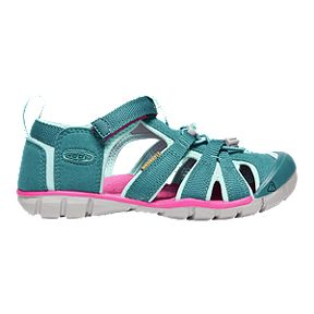 5d365295708ebf Keen Girls  Seacamp II CNX Sandals - Deep Lagoon Bright Pink