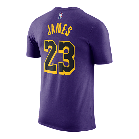 494dd35bb655 Los Angeles Lakers Nike Men's LeBron James City Edition Tee | Sport Chek