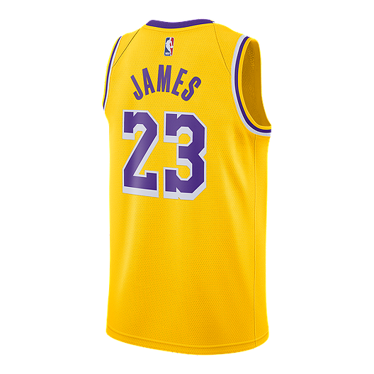 d7b5096c6bca LA Lakers Nike Men s LeBron James Icon Swingman Jersey