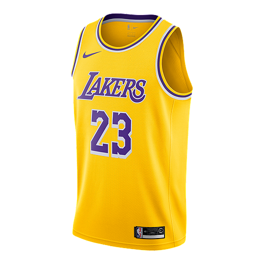hot sale online 83757 61496 LA Lakers Nike Men's LeBron James Icon Swingman Jersey