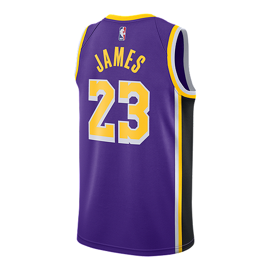 3de8d3d531df LA Lakers Nike Men s LeBron James Statement Swingman Jersey