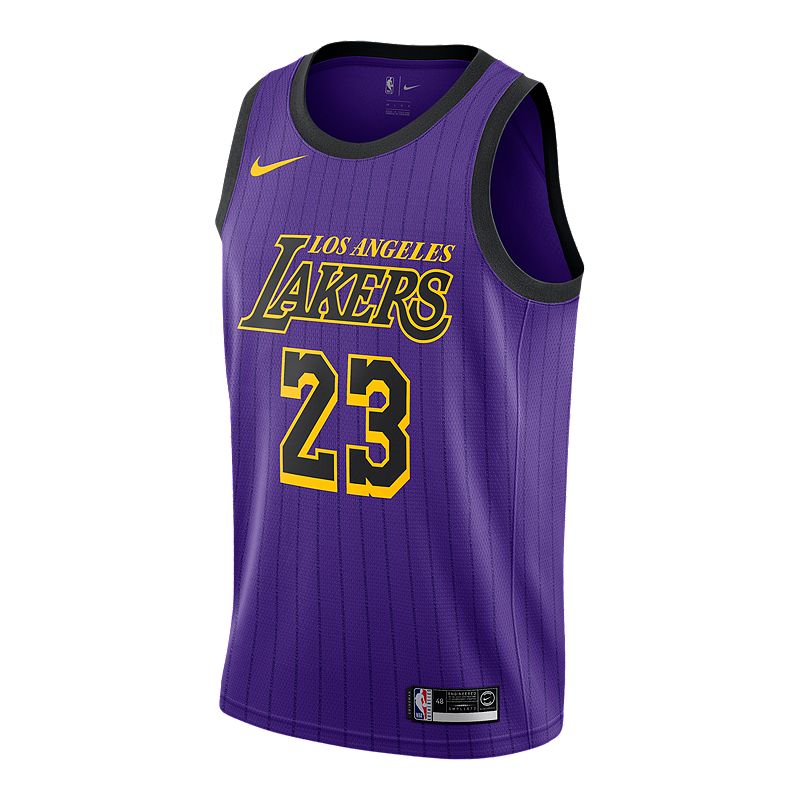 15c4c7fd17be Los Angeles Lakers Nike Men s LeBron James City Edition Swingman Jersey  (886060301208) photo