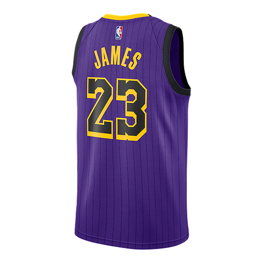 buy online b9104 80bf0 Los Angeles Lakers Nike Men's LeBron James City Edition ...