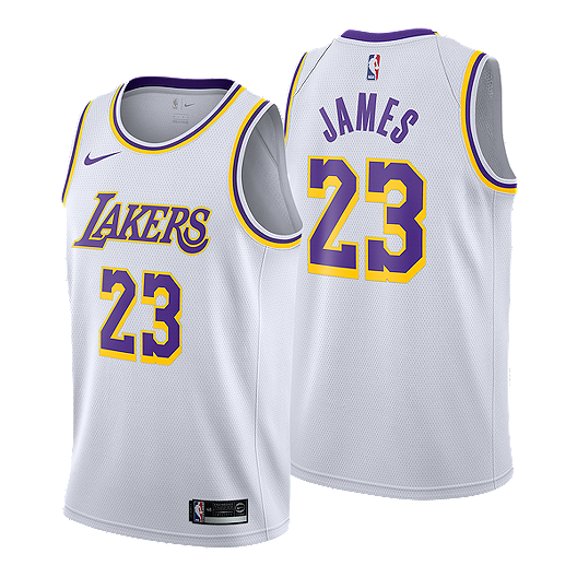 detailed look f8e8d 09f59 Los Angeles Lakers LeBron James Association Swingman Jersey