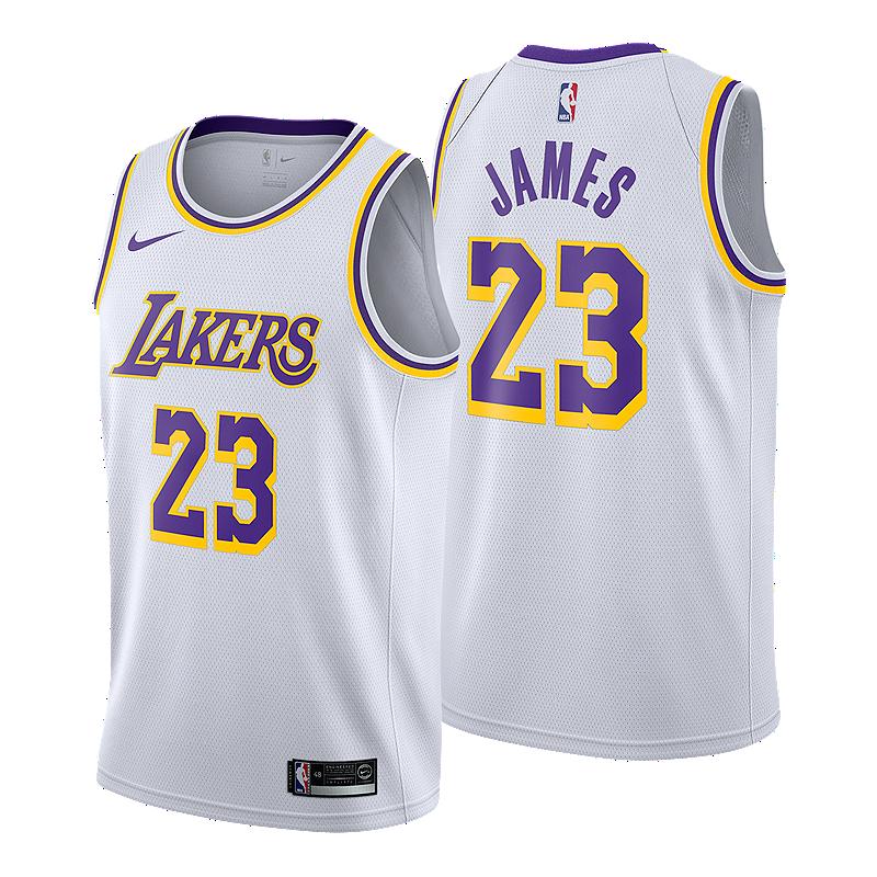 Los Angeles Lakers LeBron James Association Swingman Jersey  ebe155514