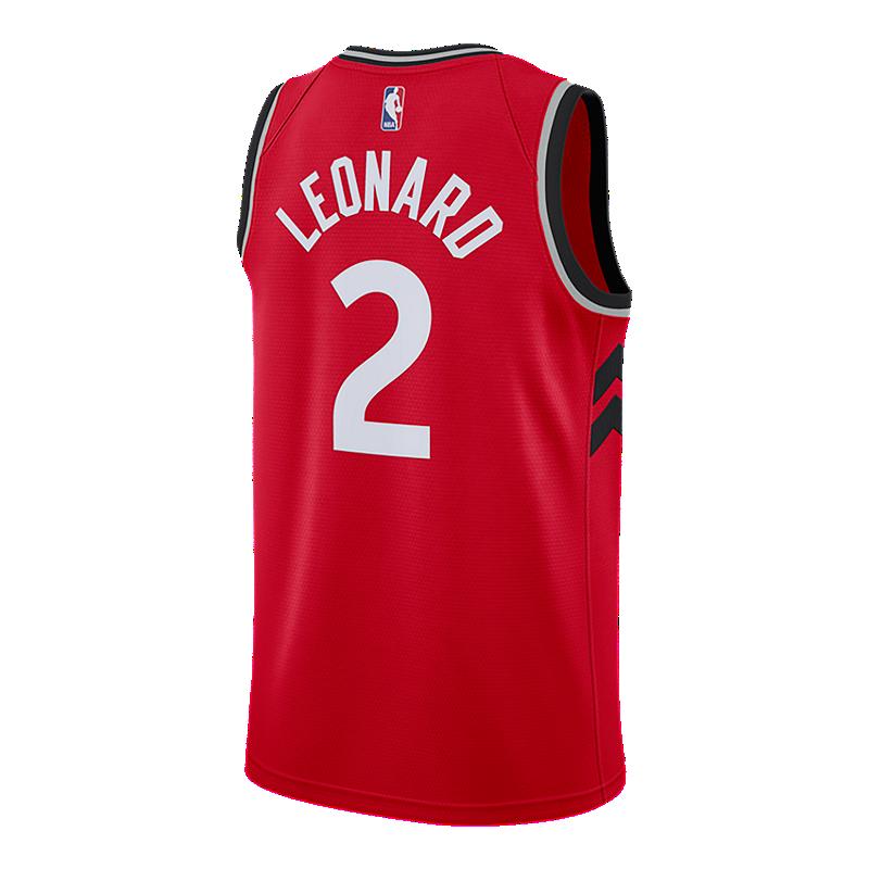ef4b70e7c3f Toronto Raptors Nike Men s Swingman Icon Kawhi Leonard Jersey ...
