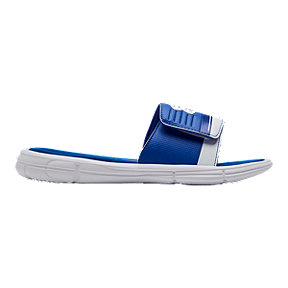 Under Armour Boys' Mercenary X Slide Sandals - Royal Blue/White