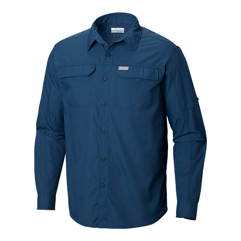 Columbia Men s Silver Ridge 2.0 Long Sleeve Shirt - Petrol Blue ... 7f5aeb4a5