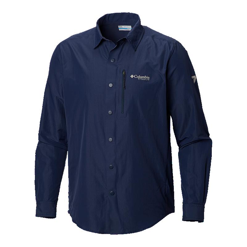 95beb1c8bb7e Columbia Men s Titanium Featherweight Hike II Long Sleeve Shirt - Navy