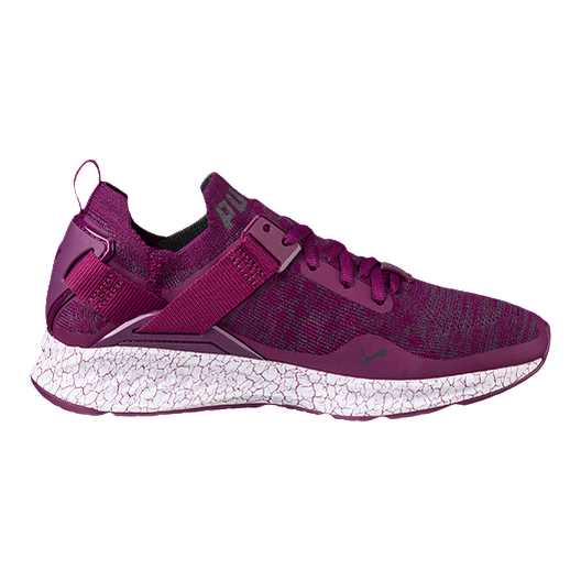 a0c0827327a PUMA Women s Ignite evoKNIT Lo Hypernature Shoes - Dark Purple Periscope