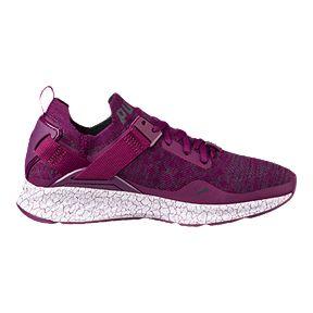 4ca39a2212fd PUMA Women s Ignite evoKNIT Lo Hypernature Shoes - Dark Purple Periscope