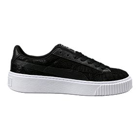 PUMA Women s Basket Platform FO Shoes - Puma Black 349bb6440