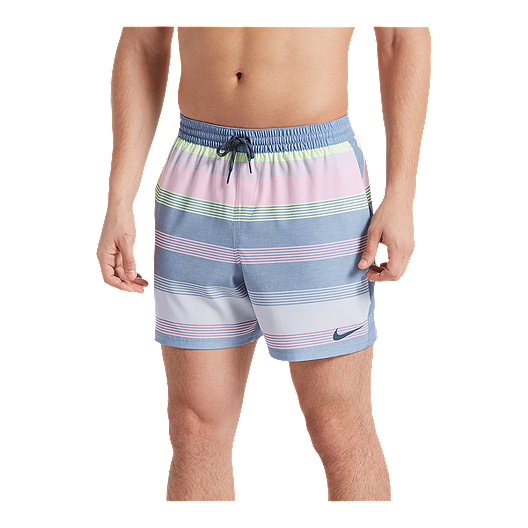 new lifestyle hot sale online half off Nike Men's 6:1 Linen Racer 5 Inch Volley Shorts - Indigo
