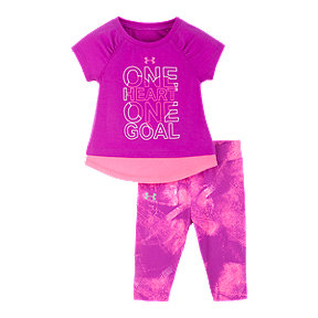 Under Armour Infant Girls' Fierce Heart Tee N Tight Set