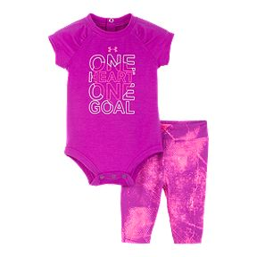 00205ca0cc5 Under Armour Newborn Girls' Fierce Heart Tee N Tight Set