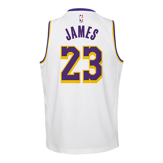 pretty nice 2ec07 7b533 Youth Los Angeles Lakers LeBron James Association Jersey