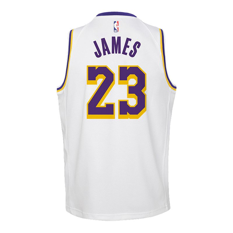e7067f0aa Youth Los Angeles Lakers LeBron James Association Jersey (NIKE  193235159527) photo