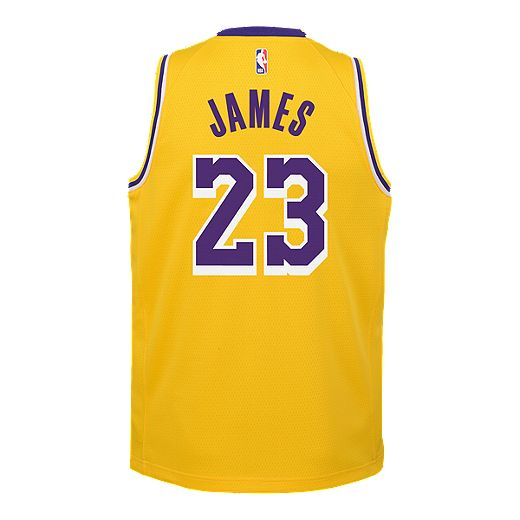 Youth Los Angeles Lakers LeBron James Icon Yellow Jersey