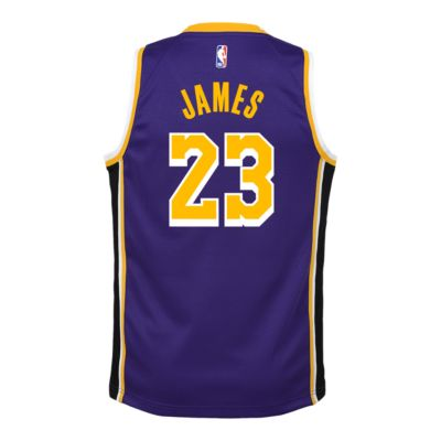 low priced 5472e 6963a Youth Los Angeles Lakers LeBron James Statement Purple Jersey