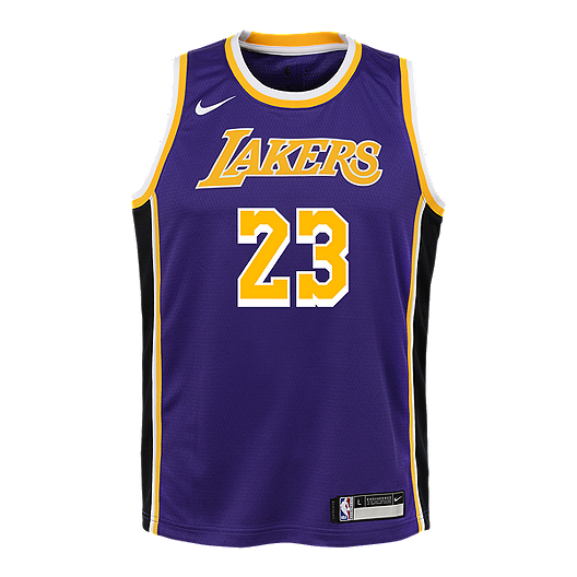 low priced f5497 0782c Youth Los Angeles Lakers LeBron James Statement Purple Jersey