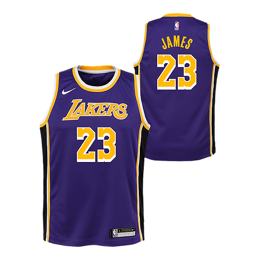 low priced c91dc c21e3 Youth Los Angeles Lakers LeBron James Statement Purple Jersey