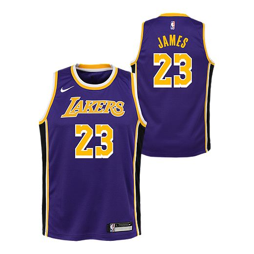 Youth Los Angeles Lakers LeBron James Statement Purple Jersey ...