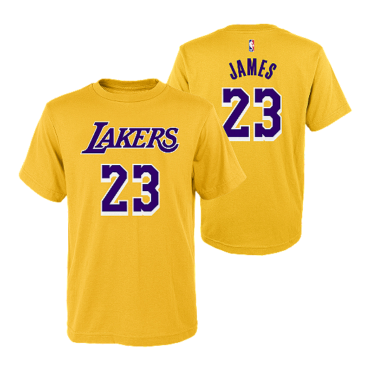 designer fashion debff c87ae LA Lakers Youth LeBron James Player Tee