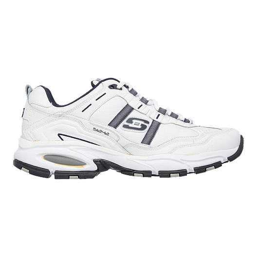 b5d0b098 Skechers Men's Vigor 2.0 Wide Walking Shoes - White/Navy   Sport Chek