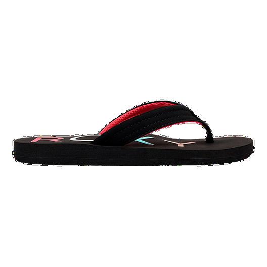 a78651b9b Roxy Girls  Vista II Flip Flop Sandals - Black Pink